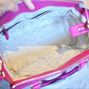 Michael Kors Bags - Michael Kors Hudson Large Pink Leather Satchel Bag